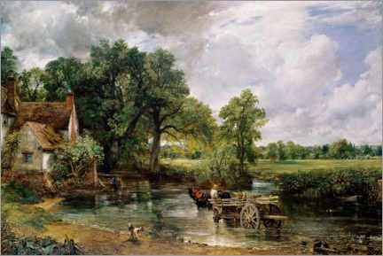 Premium poster  The hay wain - John Constable