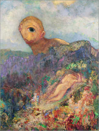 Aluminium print  The Cyclops - Odilon Redon