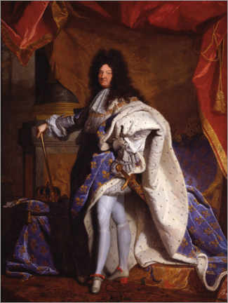 Aluminium print  Louis XIV in Royal Costume - Hyacinthe Rigaud