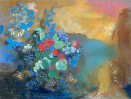 Canvas print  Ophelia among the Flowers - Odilon Redon