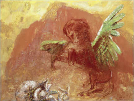 Gallery print  Pegasus and the Hydra - Odilon Redon