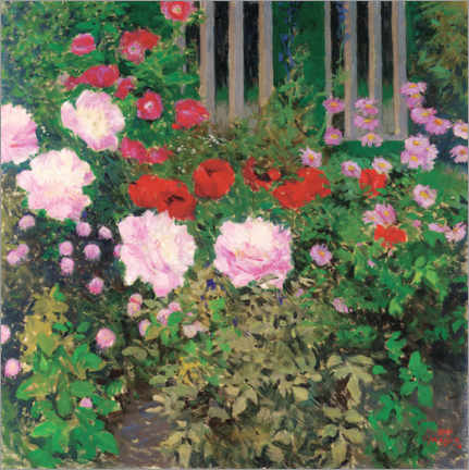 Gallery print  Blooming flowers on the garden fence - Koloman Moser