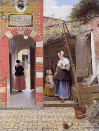 Gallery print  The Courtyard of a House in Delft - Pieter de Hooch