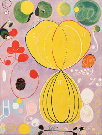 Foam board print  The Ten Largest, No. 7, Adulthood - Hilma af Klint
