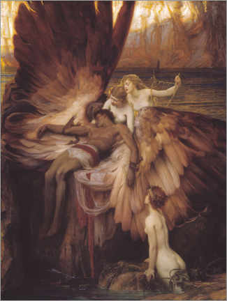 Canvas print  Mourning for Icarus - Herbert James Draper