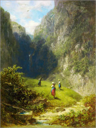 Gallery print  Hay harvest in the mountains - Carl Spitzweg