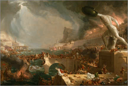 Canvas print  Fall of Rome (Destruction) - Thomas Cole
