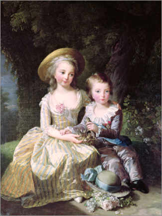 Wall sticker  Marie-Therese-Charlotte of France as a child - Elisabeth Louise Vigee-Lebrun