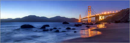 Canvas print  San Francisco Golden Gate Bridge at sunrise - Jan Christopher Becke