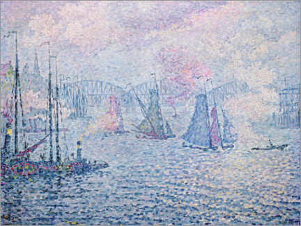 Gallery print  The Port of Rotterdam - Paul Signac