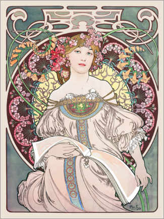 Canvas print  Reverie - Alfons Mucha
