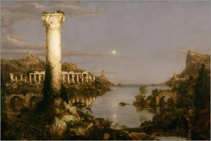 Premium poster  Course of Empire Desolation - Thomas Cole