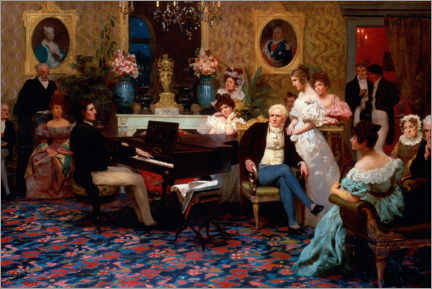 Canvas print  Chopin plays in Prince Radziwill's salon - Henryk  Siemiradzki