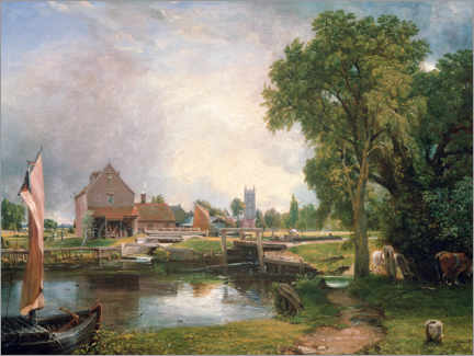 Premium poster  Dedham Lock and Mill - John Constable