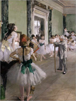 Canvas print  Dancing lesson - Edgar Degas