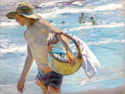 Canvas print  Young fisherman - Joaquín Sorolla y Bastida