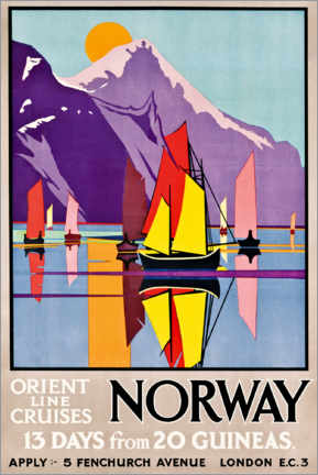 Premium poster  Orient Line Cruises Norway - M.V. Jones
