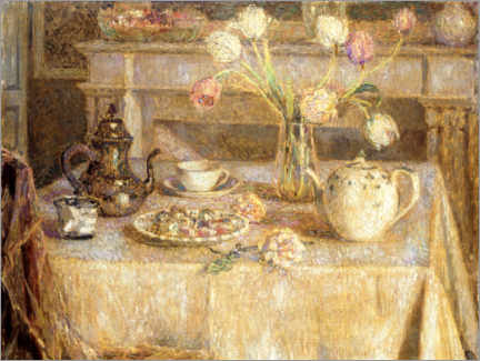 Premium poster  The white tablecloth - Henri Le Sidaner