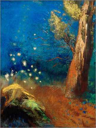 Premium poster  The death of the Buddha - Odilon Redon