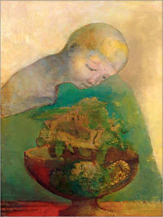 Wood print  Shell of becoming - Odilon Redon