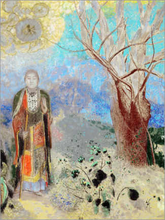 Wood print  The Buddha - Odilon Redon
