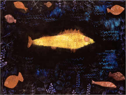 Acrylic print  The goldfish - Paul Klee
