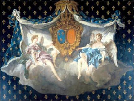 Wall sticker  Allegory of the arms of France and Navarre - François Boucher