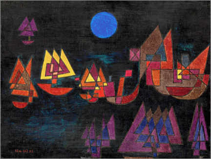 Premium poster  Ships in the dark - Paul Klee