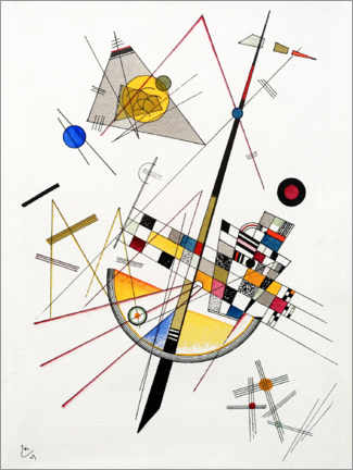 Canvas print  Mild Tension - Wassily Kandinsky