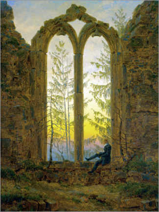 Acrylic print  The Dreamer - Caspar David Friedrich