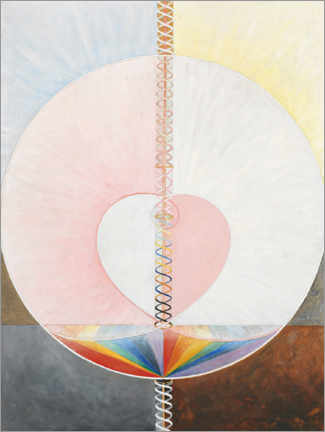 Premium poster  The Dove, No. 1 - Hilma af Klint