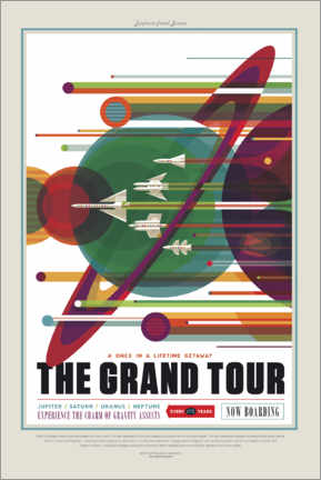 Acrylic print  The Grand Tour (Space Travel)