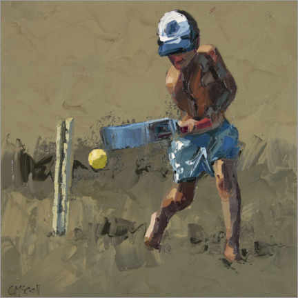 Foam board print  Beach Cricket 1 - Claire McCall