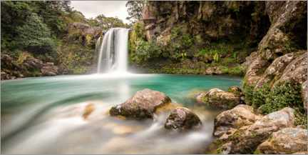 Premium poster New Zealand waterfall
