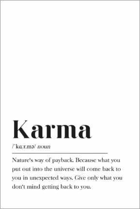 Wood print  Karma Definition - Pulse of Art