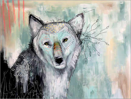 Canvas print  Abstract Wolf - Micki Wilde
