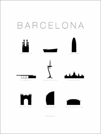 Wall sticker  Barcelona - Schumff