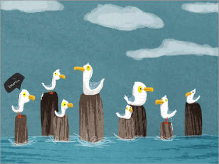 Canvas print  Seagulls Gang - Julia Reyelt
