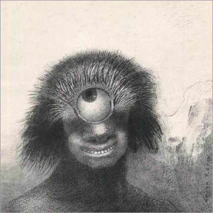 Canvas print  Smiling and Hideous Cyclops - Odilon Redon