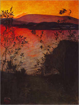 Canvas print  Evening Glow - Harald Oscar Sohlberg