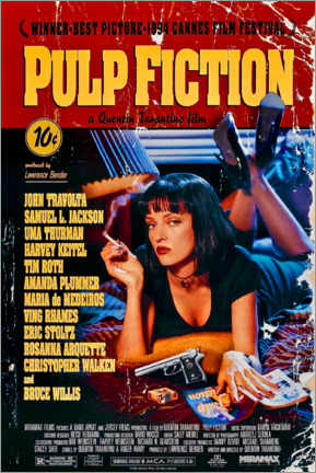 Foam board print  Pulp Fiction (English) - Entertainment Collection