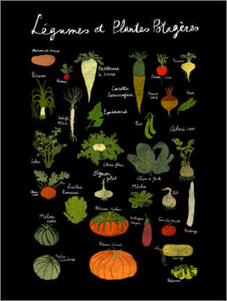 Acrylic print  Vegetables (French) - Patruschka
