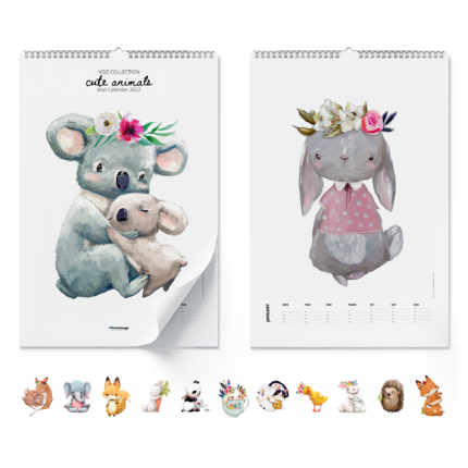 Wall calendar  Cute Animals 2020