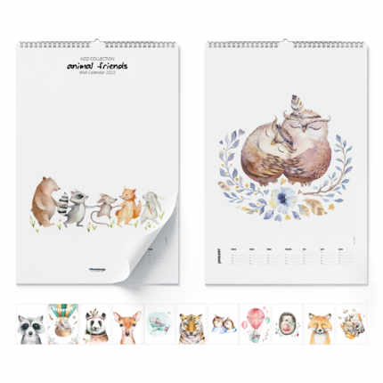 Wall calendar  Animal Friends 2020