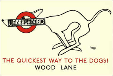 Wall sticker  I'm going underground - Alfred Leete