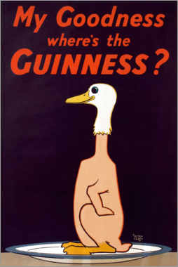 Wall sticker  My goodness, where's the Guinness? - Alfred Leete