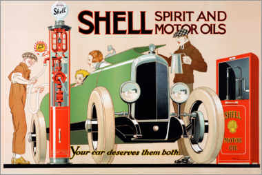 Canvas print  Shell, spirit and motor oils - Rene Vincent