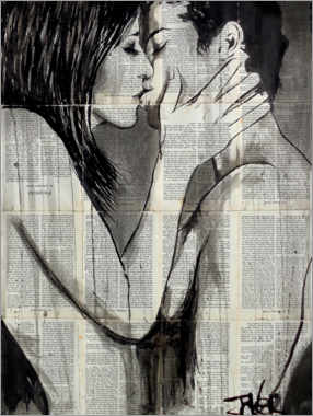 Canvas print  Traces of a kiss - Loui Jover