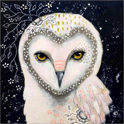 Acrylic print  Melody of the owl - Micki Wilde