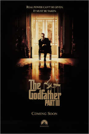 Aluminium print  The Godfather III (English) - Entertainment Collection